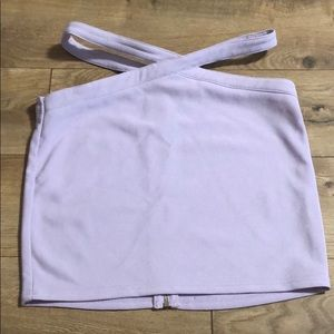 Tobi lilac mini skirt with side cut outs